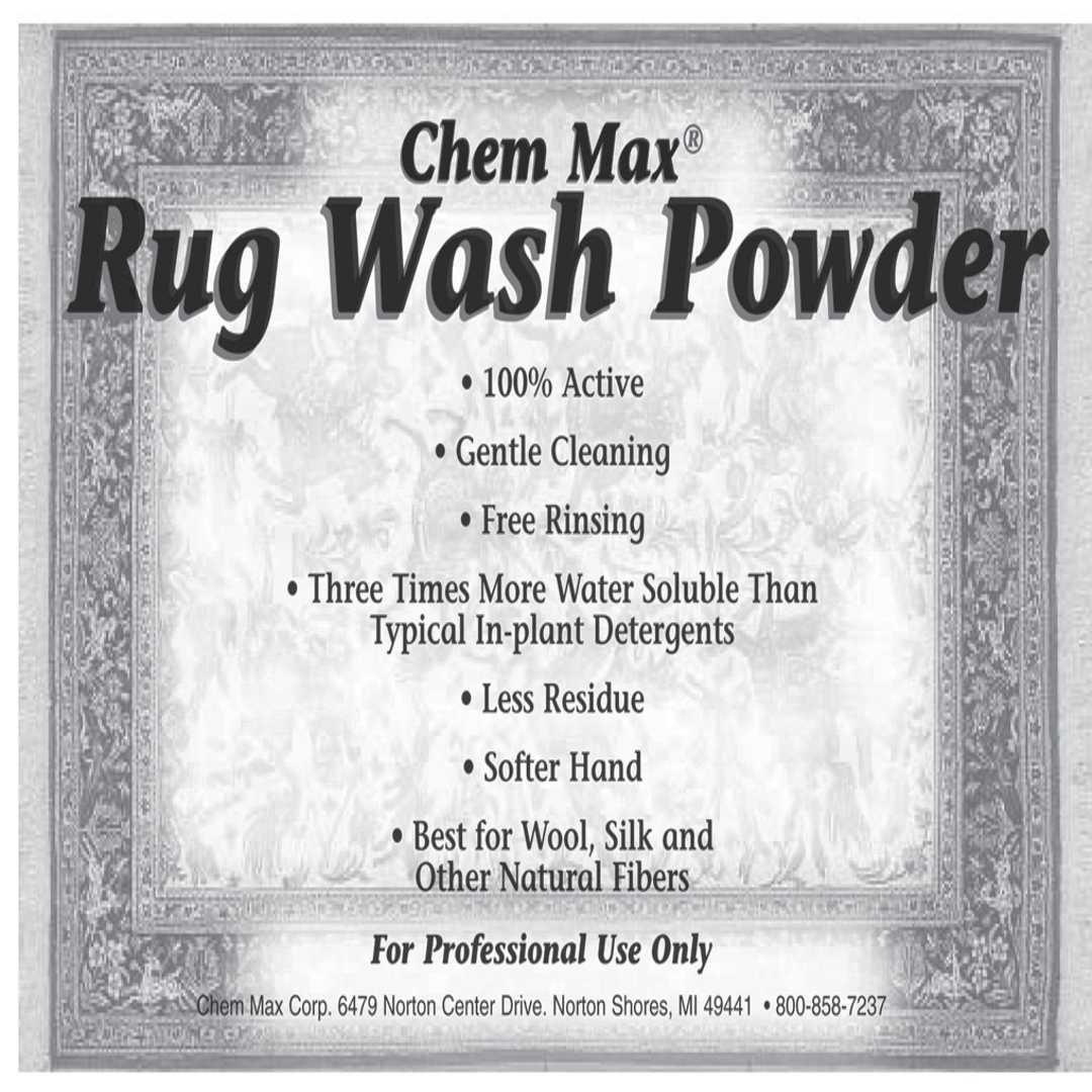 Rug Wash Powder