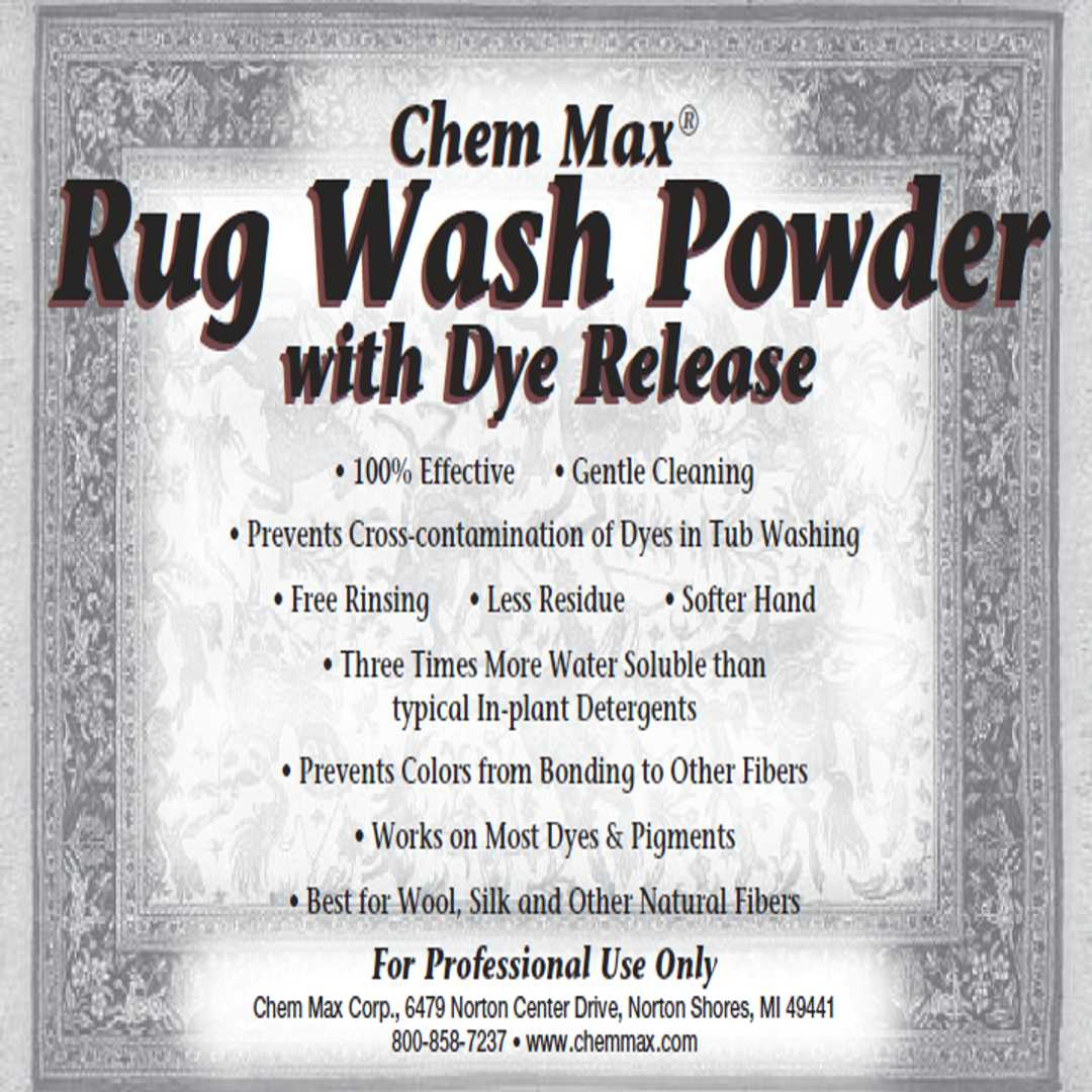 Rug Wash Powder with Dye Release
